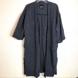 Madewell plaid cardigan duster size small pockets